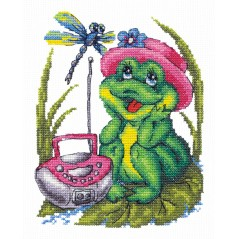 Cross Stitch Kit My favorite song (frog) art. 18-37