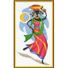 Cross Stitch Kit Africa's Daughter AM-0321