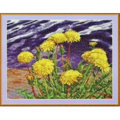 Counted Cross Stitch Kit Dandelions by the Water C-0404