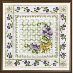 Cross Stitch Kit Vibrant Flowers C-0575