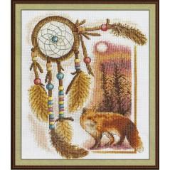 Counted Cross Stitch Kit Dreamcatcher (Fox) J-0627