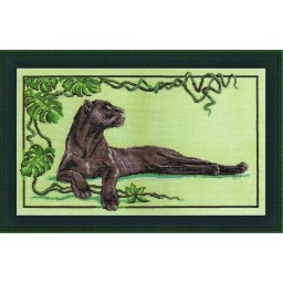 Counted Cross Stitch Kit Black Panther J-0706
