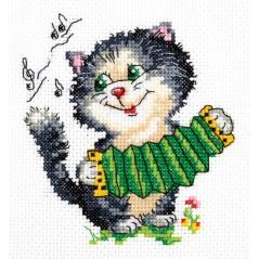 Cross Stitch Kit Music (cat) art. 18-34