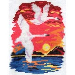 Cross Stitch Kit Swans art. 0-28