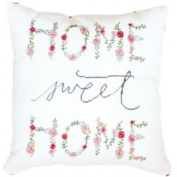 Cross Stitch Kit Pillow Home Sweet Home PB110