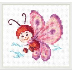 Cross Stitch Kit Butterfly art. 10-27