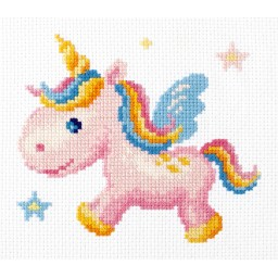 Cross Stitch Kit Rainbow Unicorn art. 10-35