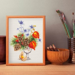 Cross Stitch Kit Winter bouquet art. 100-001