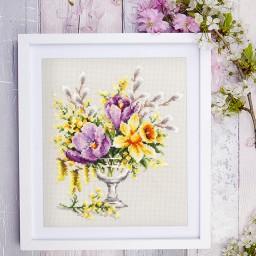 Cross Stitch Kit Spring bouquet art. 100-002