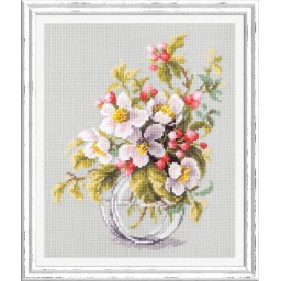 Cross Stitch Kit Blooming apple tree art. 100-011