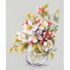 Cross Stitch Kit Blooming apple tree art. 100-011