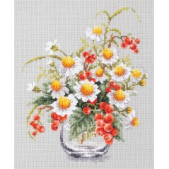 Cross Stitch Kit Chamomile and red currant art. 100-012