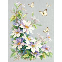 Cross Stitch Kit Clematis art. 100-062