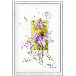 Cross Stitch Kit Echinacea art. 100-101
