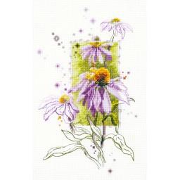 Cross Stitch Kit Echinacea art. 100-101