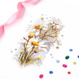 Cross Stitch Kit White daisies art. 100-103