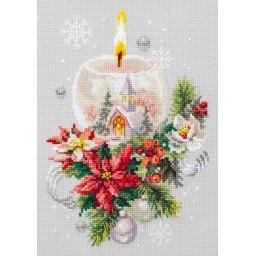 Cross Stitch Kit Christmas candle art. 100-231