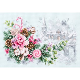 Cross Stitch Kit Christmas sentiment art. 100-244
