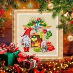 Cross Stitch Kit Waiting for Christmas art. 100-251