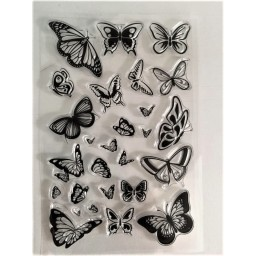Butterflies Transparent Silicone Rubber Clear Stamps Scrapbooking