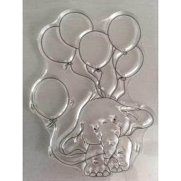 Elephant Transparent Silicone Rubber Clear Stamps Scrapbooking