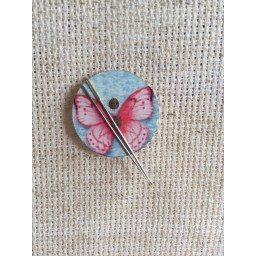 Needle Minder Pink Butterfly
