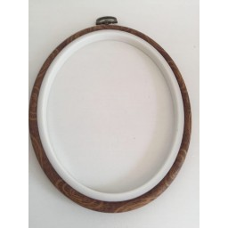 Oval Frame Embroidery Hoop Ring Circle Round Loop For Cross Stitch Machine Hand Needle-craft DIY Sewing Tools 12 x 15 cm