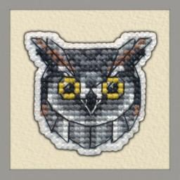 Cross Stitch Kit BADGE-OWL art. 1095 Pre-order
