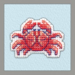 Cross Stitch Kit BADGE-CRAB art. 1099