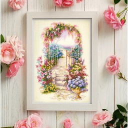 Cross Stitch Kit Entrance to the garden art. 110-001