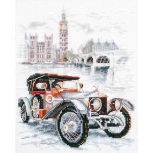 Cross Stitch Kit Retro style. Britain art. 110-025