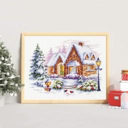 Cross Stitch Kit Winter House art. 110-041