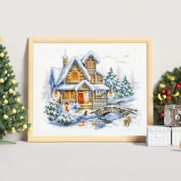 Cross Stitch Kit Winter Cottage art. 110-042