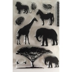 African Grassland Animal Clear Stamps