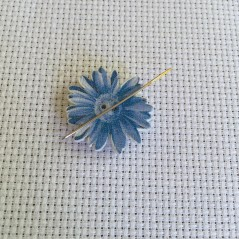 Needle Minder Blue Flowers