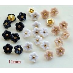 10 Pcs 11mm Kawaii flower buttons Rhinestone buttons for shirt Scrapbooking art. 140