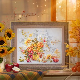 Cross Stitch Kit Autumn Improvisation art. 120-012