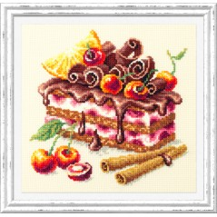 Cross Stitch Kit Cherry cake art. 120-072