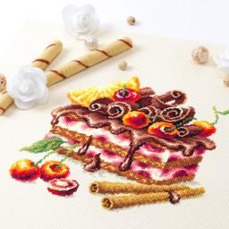 Cross Stitch Kit Cherry cake art. 120-072