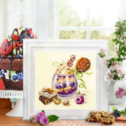 Cross Stitch Kit Chocolate dessert art. 120-080
