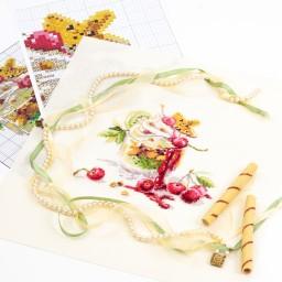Cross Stitch Kit Cherry Dessert art. 120-081