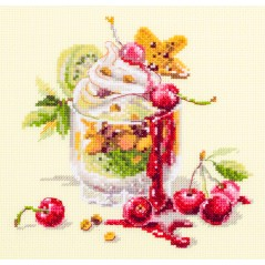 Cross Stitch Kit Cherry Dessert art. 120-081