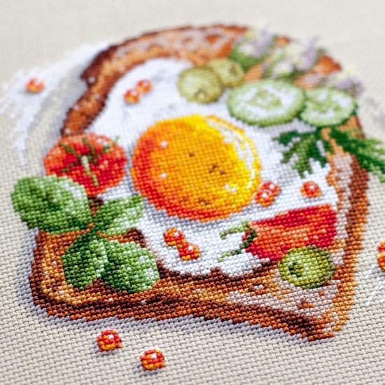 Cross Stitch Kit Fried eggs toast art. 120-092