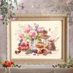 Cross Stitch Kit A Cup of Coffee art. 120-203