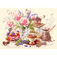 Cross Stitch Kit A Cup of Coffee art. 120-203