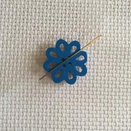 Needle Minder Blue flower 2