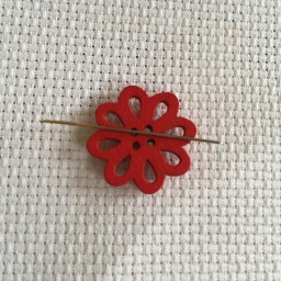 Needle Minder Red flower