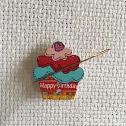 Needle Minder Cake Happy Birthday
