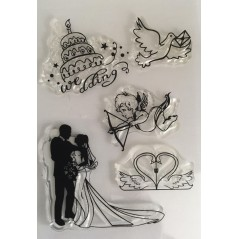 Love and Wedding Clear Stamp
