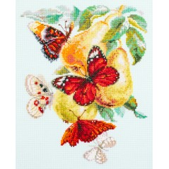 Cross Stitch Kit Butterflies and Pears art. 130-051